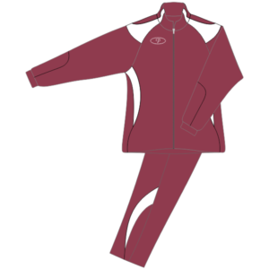 Tracksuit Maroon/White