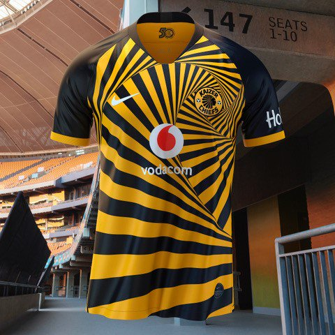 Kaizer Chiefs officially display their new jersey for the coming season
